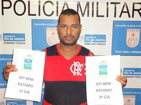 FOTO_1_-_Valdemir,_o_'Pretinho',_foi_preso_em_flagrante_pela_PM.Divulgação